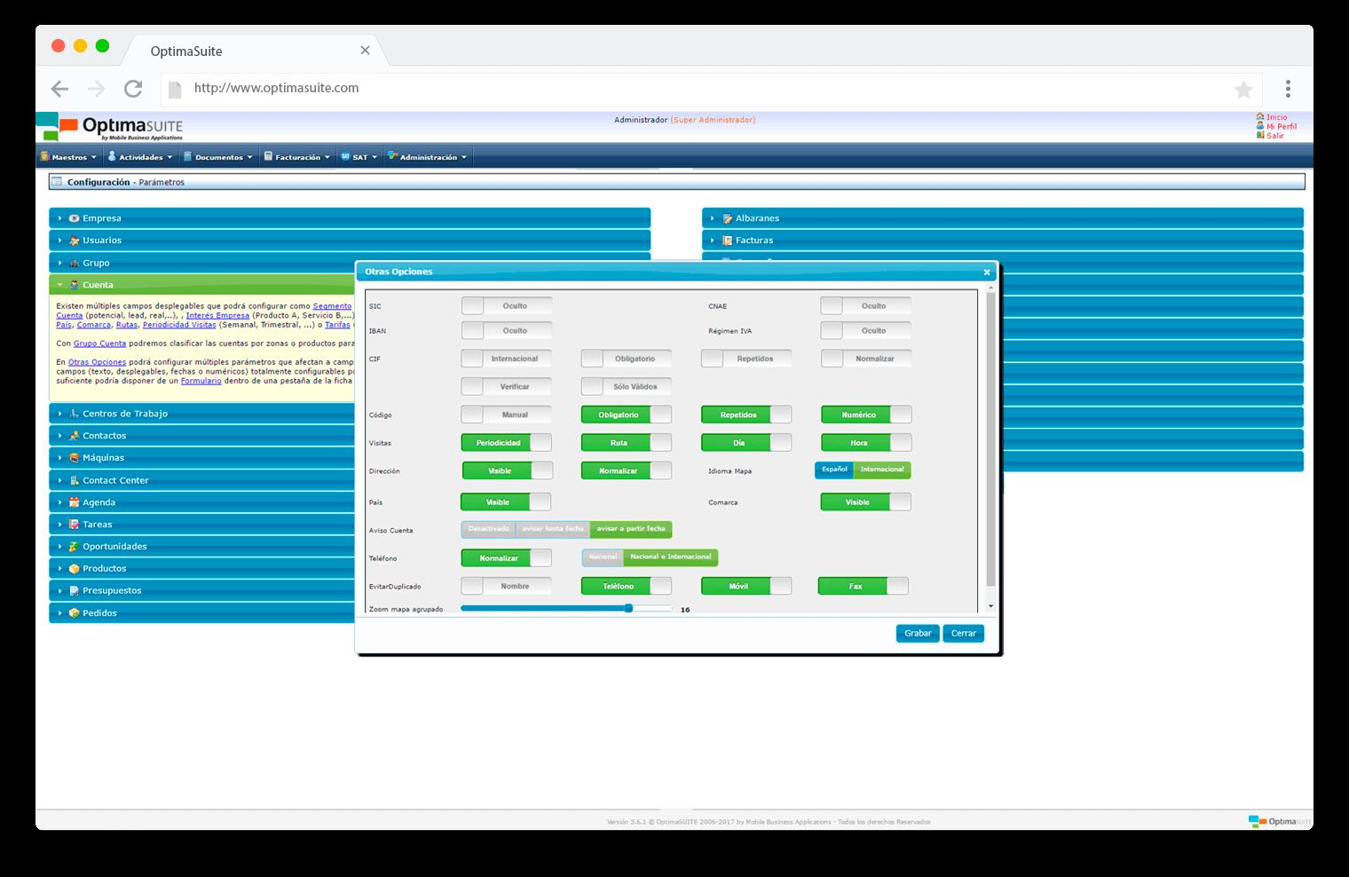 configuracion-OptimaSuite-Sales